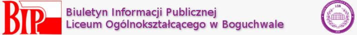 Biuletyn Informacji Publicznej Liceum Ogólnokształcącego w Boguchwale